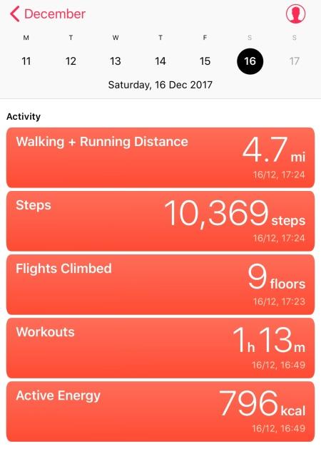 Dec. 16th Workout