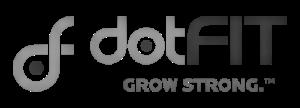 dotFit Logo - Black & Grey (Transparent)