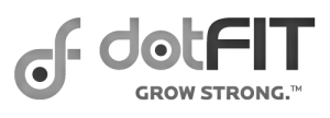 dotFit Logo - Black & Grey (Transparent)