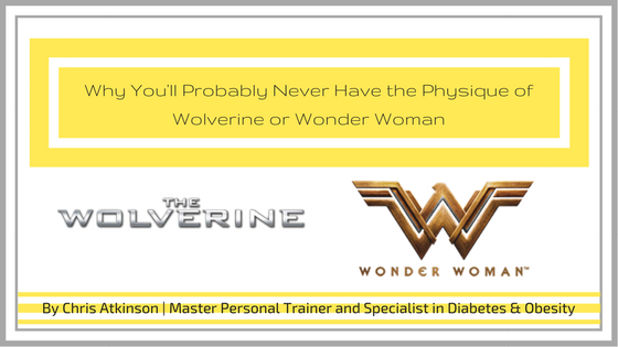 Why You'll Probably Never Have the Physique of Wolverine or Wonder Woman Blog Graphic